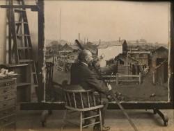 Hans Bartholowsky at work in matte dept